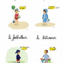 Léone et les illustrations d'enfant